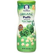 Gerber Organic Puffs - Green Veggies