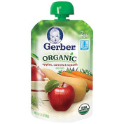 Gerber Organic 2ND FOODS Purees - Apple Carrot Squash
