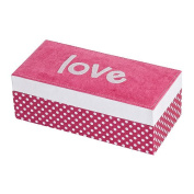 Mele & Co. Suzy Embroidered Love Fashion Jewelry Box - Hot Pink