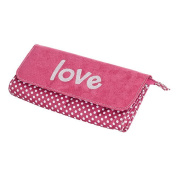 Mele & Co. Penny Embroidered Love Jewelry Clutch - Hot Pink