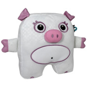 Blingoo Large Pet Plush - Pig - White/Pink