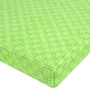 Just Born Playard Sheet - Dot Squares - Green