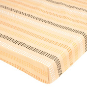 Just Born Playard Sheet - Dot Stripe - Tan