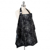 Hooter Hiders Avignon Nursing Cover - Black/Grey/White - One Size