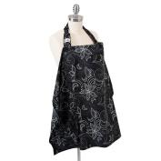 Hooter Hiders Avignon Nursing Cover - Black/Grey/White - One Size