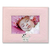 Lawrence Frames 885064 Lawrence Frames Pink Faux Leather 4x6 Picture Frame