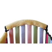 Go Mama Go Designs Wonder Bumpers Teething Guard, Grey/Yellow, 80cm x 15cm