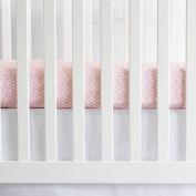Oliver B Diamond Crib Sheet - Powder Pink/White