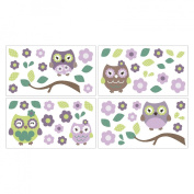 CoCaLo CoCo & Company Owl Wonderland Removable Wall Appliques