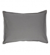 Organic Boudoir Pillow - Solid Grey
