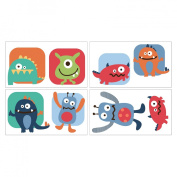 CoCaLo CoCo & Company Monster Buds Removable Wall Appliques