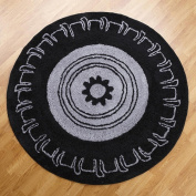 One Grace Place 10-2003855 Teyos Tyres 5x5 Round Rug