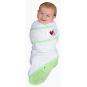 Go Mama Go Snug and Tug Swaddle Blanket Swaddle Blanket, Green - Small