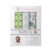 SwaddleDesigns SwaddleLite Set of 3 Marquisette Swaddling Blankets