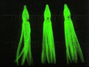 30x 75mm 2g Fishing Lures Shiny Glow Octopus Squid Skirts Soft Lure