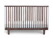 Oeuf Rhea Crib in Walnut with Merlin 3 Drawer Dresser in Walnut with Rhea Base Plus FREE Sophie the Giraffe