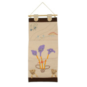 [Purple Flowers] Ivory/Wall Hanging/Wall Organisers/Wall Pocket/Wall Pocket