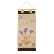 [Purple Flowers] Ivory/Wall Hanging/Wall Organisers/Wall Pocket/Wall Pocket