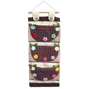 [Plaid & Colourful Flowers] Wall hanging/ Hanging Baskets / Wall Baskets / Baskets