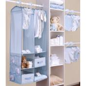 Delta 24 Piece Nursery Closet Organiser, Blue