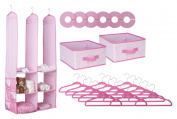 Delta 24 Piece Nursery Closet Organiser, Pink