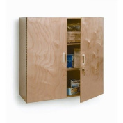 Whitney Brothers Birch Laminate Lockable Wall Cabinet