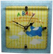 Timeless Sentiments Baby Boy Clock