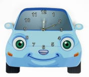 Rikki Knight Blue Car Wall Clock