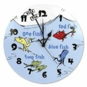 Dr. Seuss One fish, two fish Wall Clock