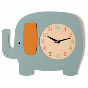Tree by Kerri Lee Elephant Clock, Turquoise