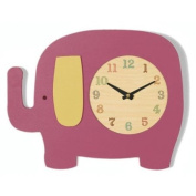 Tree by Kerri Lee Elephant Clock, Raspberry