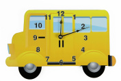Rikki Knight Yellow School Bus Wall Clock