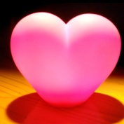 Colour Changing LED Heart Love Romantic Wedding Favour Baby Kid Mood Lamp Night Light Children