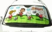 Peanuts Snoopy Car Shade / Sun Block Shade - Soccer Player