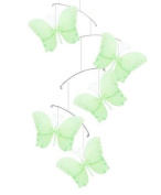Butterfly Mobile Green Twinkle Nylon Butterflies Mobiles Decorations - Decorate for a Baby Nursery Bedroom, Girls Room Hanging Ceiling Decor, Wedding Birthday Party, Bridal Baby Shower, Bathroom. Butterfly Decoration 3D Art Craft