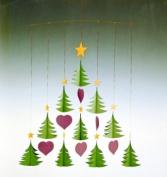 Flensted Mobiles Nursery Mobiles, 10 Christmas Trees