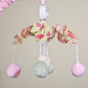 Minky Bubbles Pink Musical Mobile