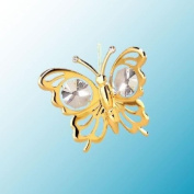 Mini Butterfly ... Hanging Sun Catcher or Ornament..... With Clear. Austrian Crystals