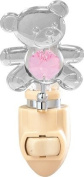 Teddy Bear Night Light..... With Pink. Austrian Crystals