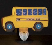 Children's Quality Designed Yellow Bus Bedroom Night Light