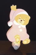 Children's Quality Designed Pink Sleeping Bear Room Night Light