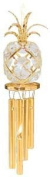 24K Gold Plated Wind Chime Sun Catcher or Ornament..... Pineapple With Clear. Austrian Crystal