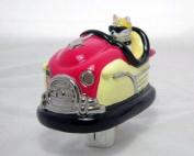 """Cattitude"" Bumper Car Ceramic 3D Light Light"