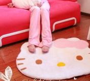 Hello Kitty diecut face shape Area Rug 76.2cm x 63.5cm