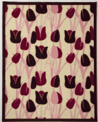 Beansprout Talullah Rug, Pink/Maroon