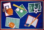 Sports A Rama Rug 39 x 58 Rug