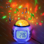 Lily's Home Starry Night Projector and Sound Shooter. With 6 Lullabies and 4 Nature Sounds. Large LCD Alarm Clock