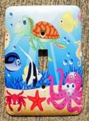 Ocean Wonders Sea Life Single Toggle Wall Plate Cover