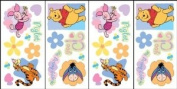 Blue Mountain Wallcoverings 31420530 Original Pooh Self-Stick Wall Accent Stickers