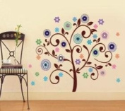 WallStickerUSA Tree FLower Fireworks Colorfull Wall Sticker Decal for Baby Nursery Kids Room